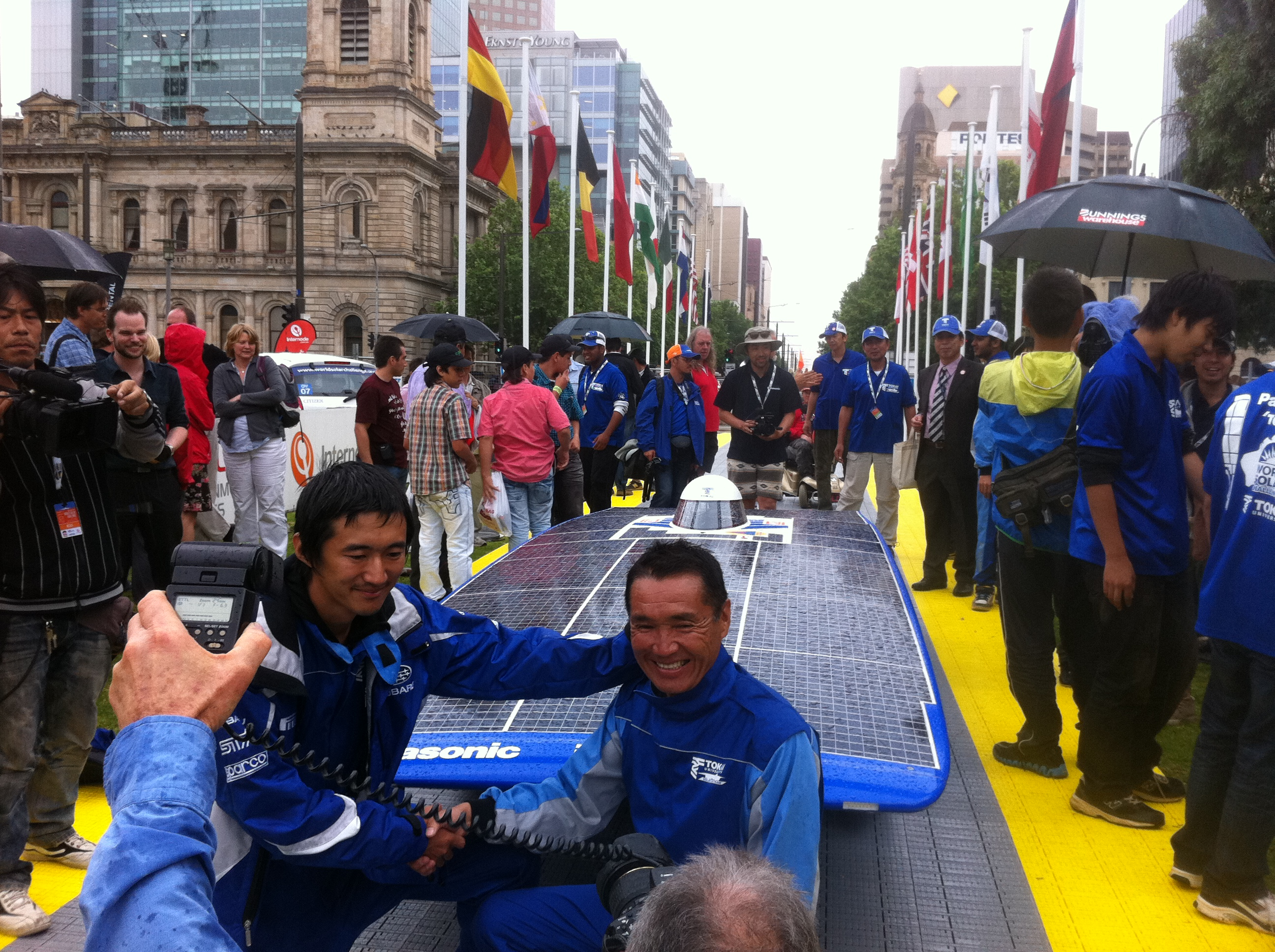Tokai University's Tokai Challenger 2 (Japan), First Winning Team reaching Adelaide, Australia