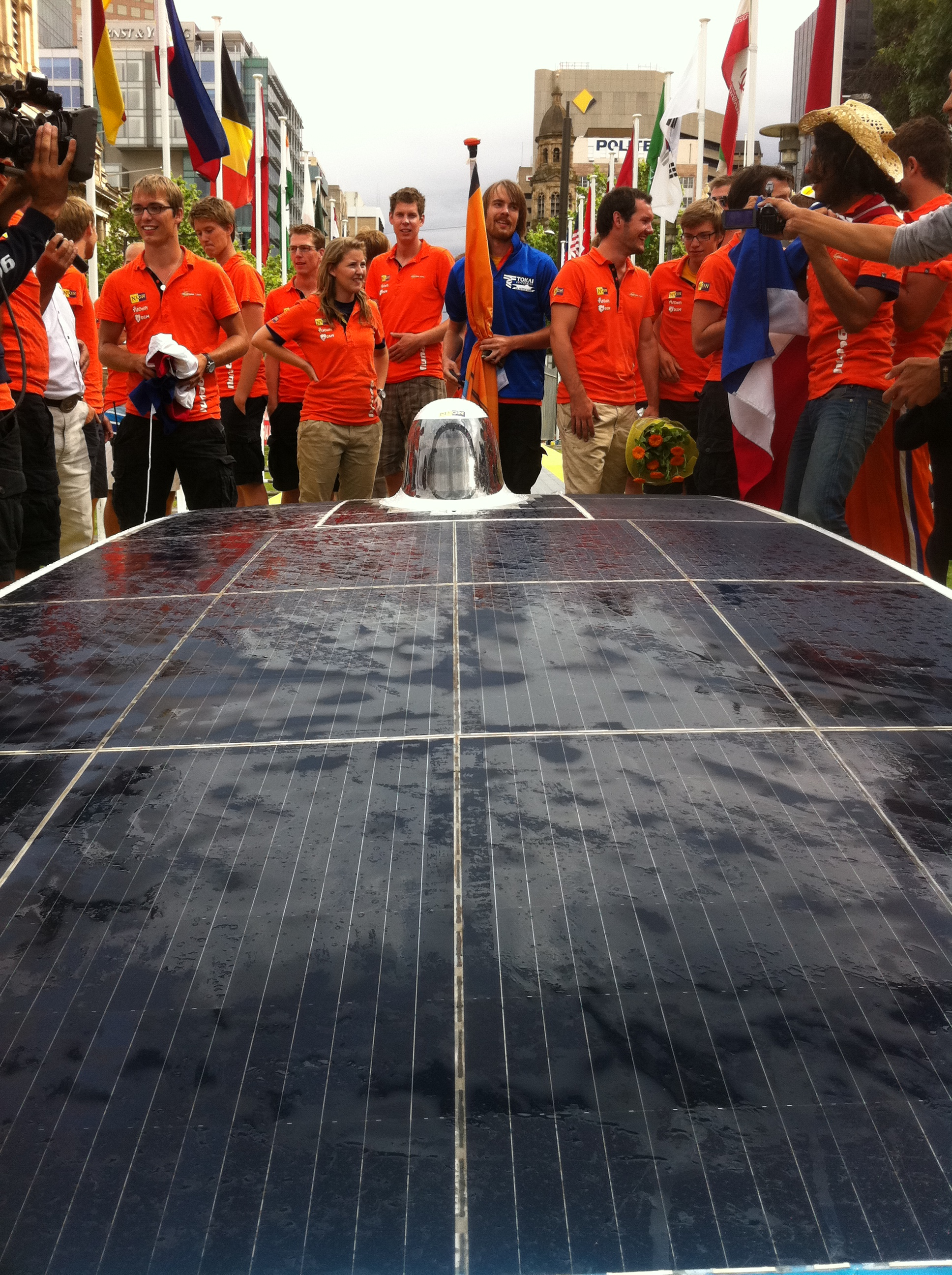Nuon Solar Team's Nuna 6 (Netherlands), 2nd Winning Team that arrived at Adelaide, Australia