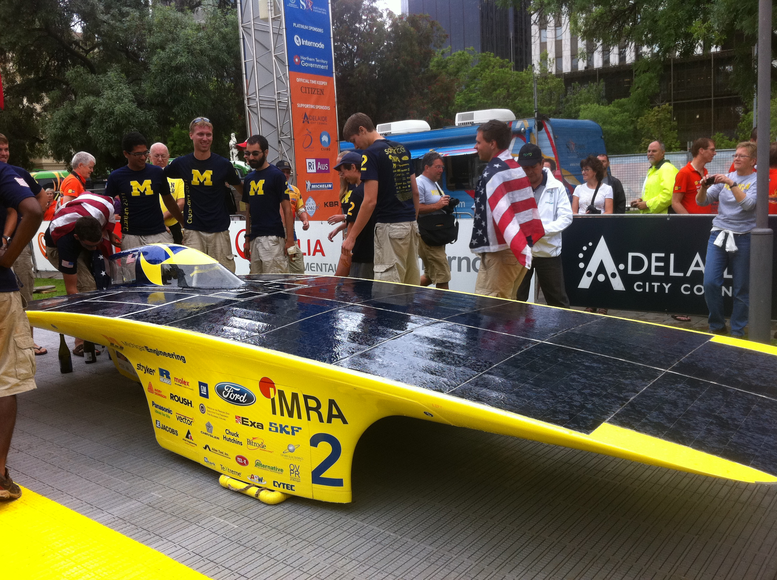 University of Michigan's Quantum (USA), 3rd Winning Team that arrived at Adelaide, Australia