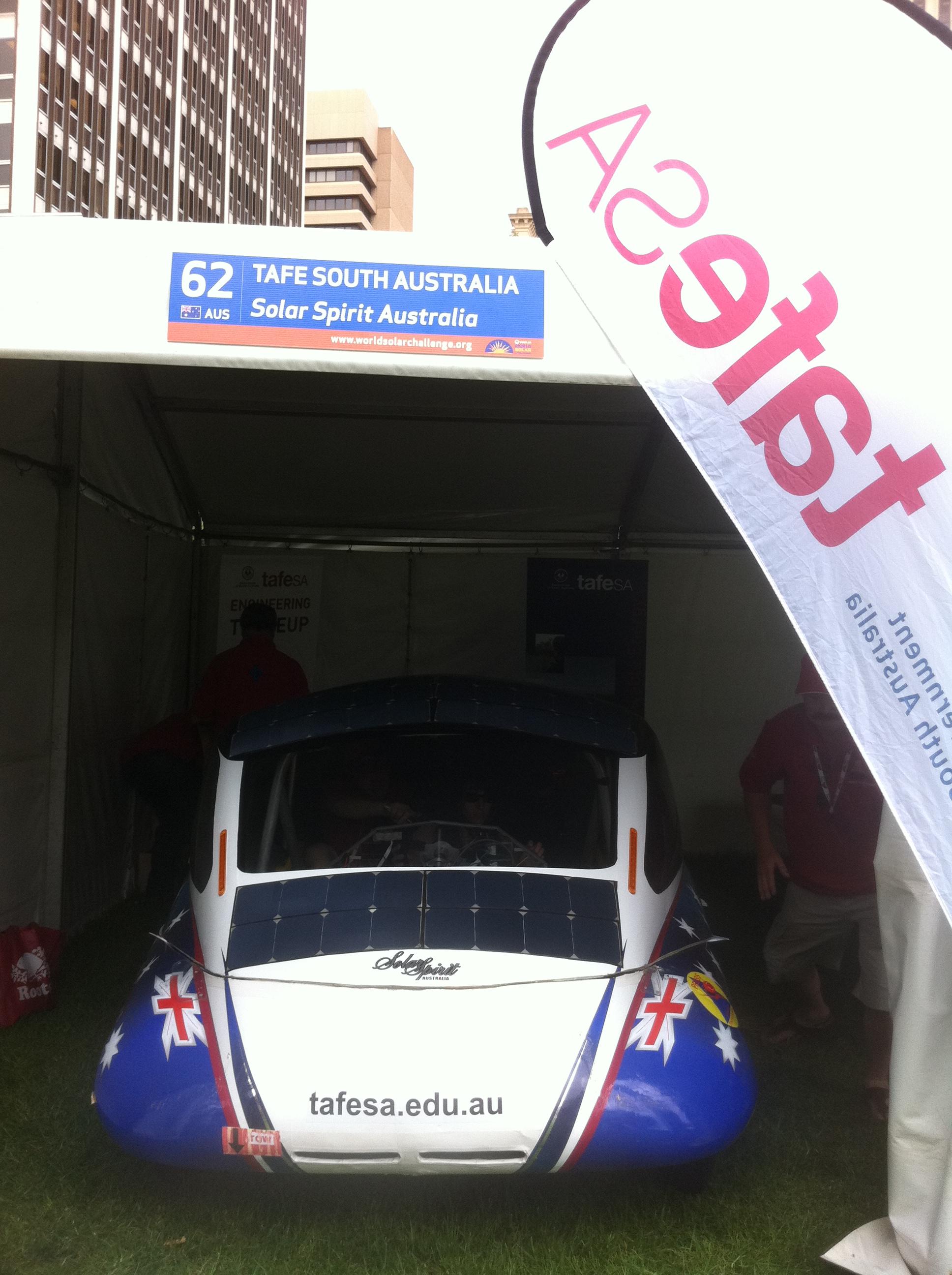 Tafe SA's Solar Spirit Australia (Australia), rear view