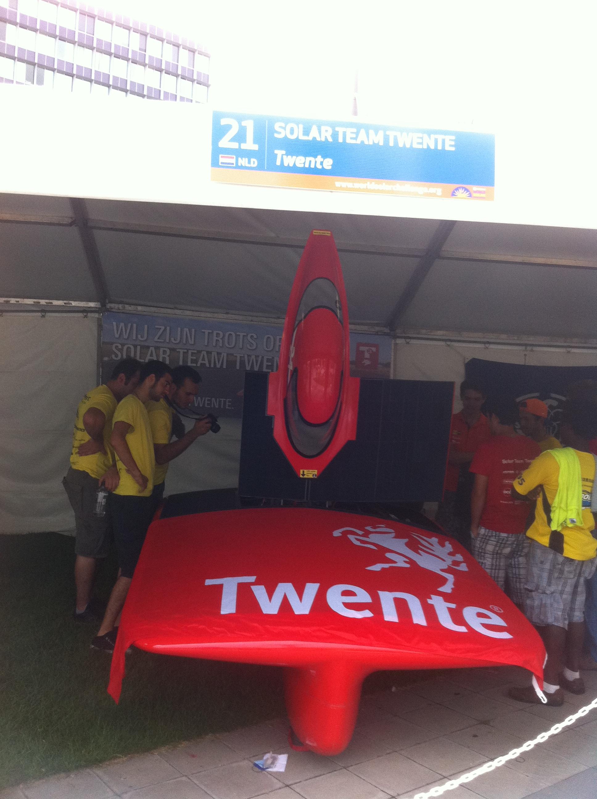 Solar Team Twente's 21 Connect (Netherlands), 5th Arriving Winner at Adelaide, Australia