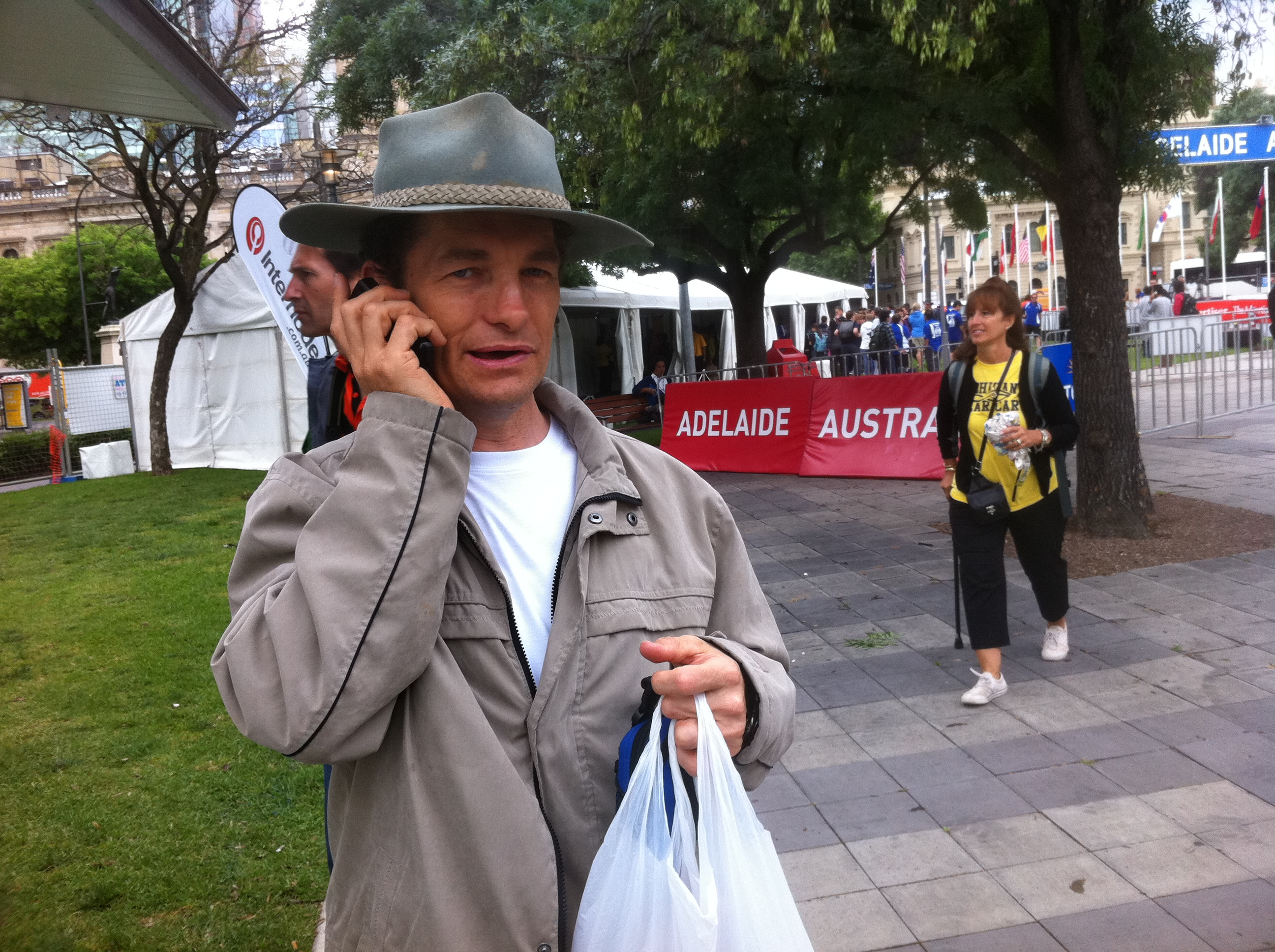 Garrick Everett at Victoria Square at the Veolia World Solar Challenge 2011