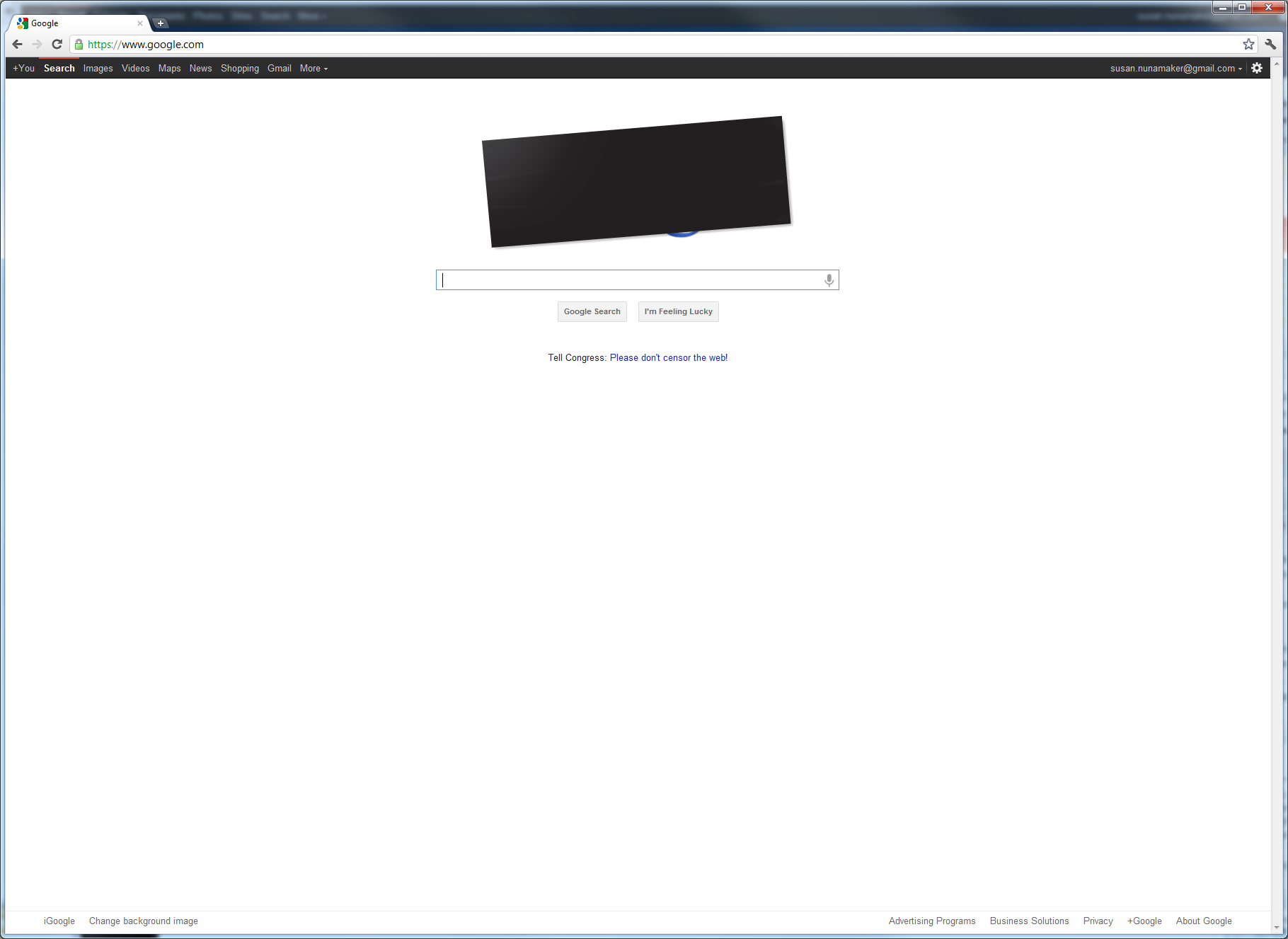google-English blackout Wed Jan 18 2012