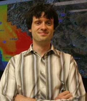Environmental Engineering Professor Jan Kleissl of UC San Diego is developing technologies and methods  to better predict solar power generation. Credit UC San Diego