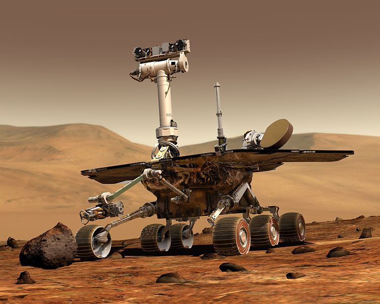 Mars Spirit Rover on Mars artist concept