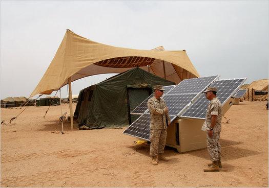 U.S. military Solar Panel in Afghanistan Major Paul Greenberg U.S.M.C.