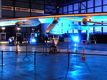 Solar Impulse aircraft at Brussels Airport in May 2011