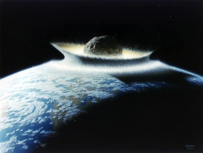 Russian 17 meter meteorite colliding earth