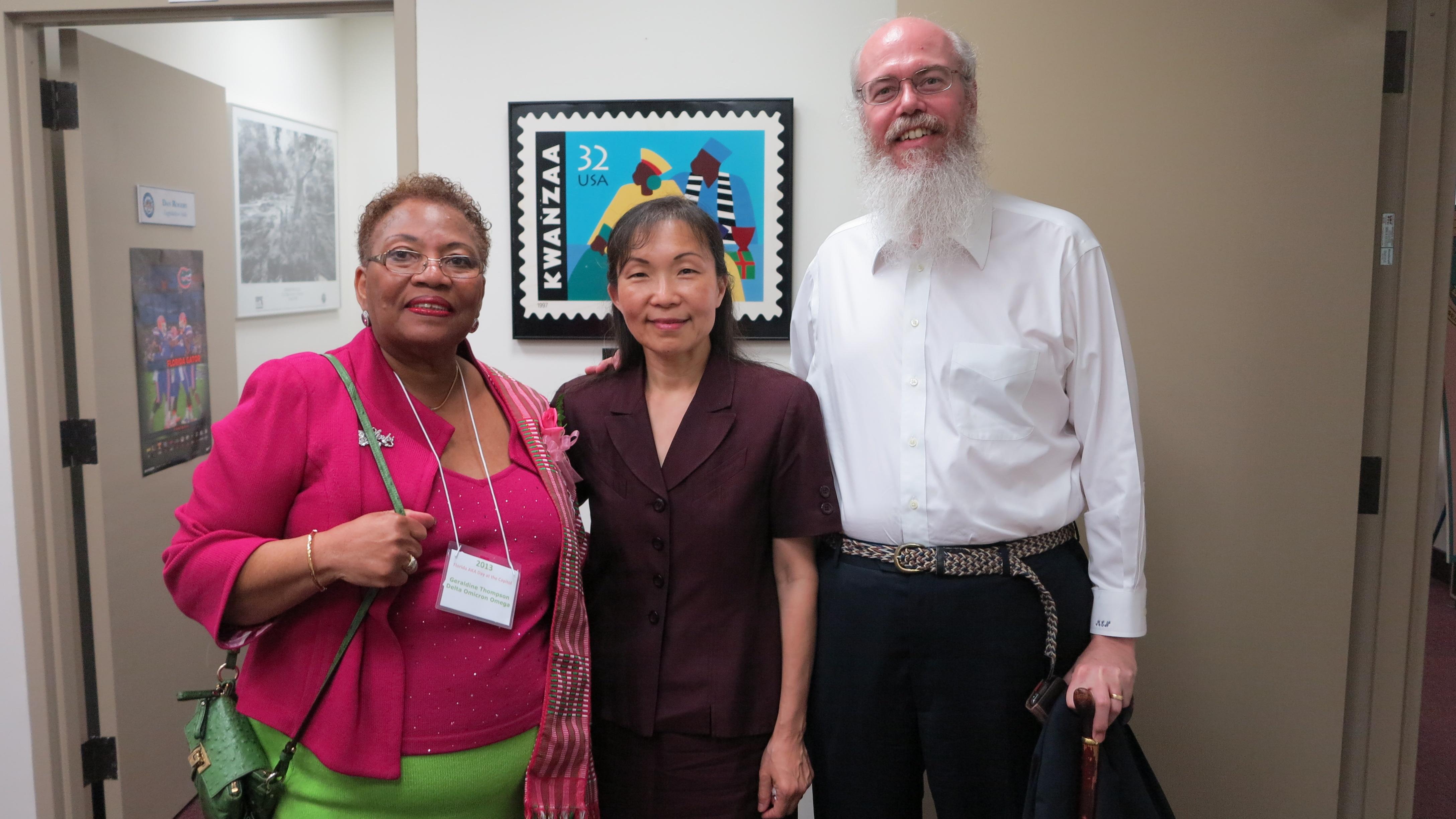 Sunisthefuture Team with Senator Geraldine Thompson 2013
