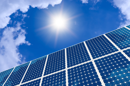 iStock solar panels under sun