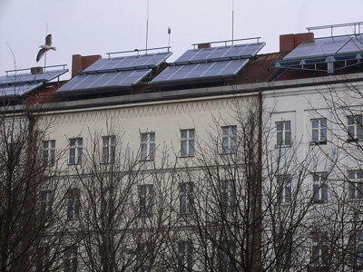rooftop pv panels in Kreuzberg, Berlin