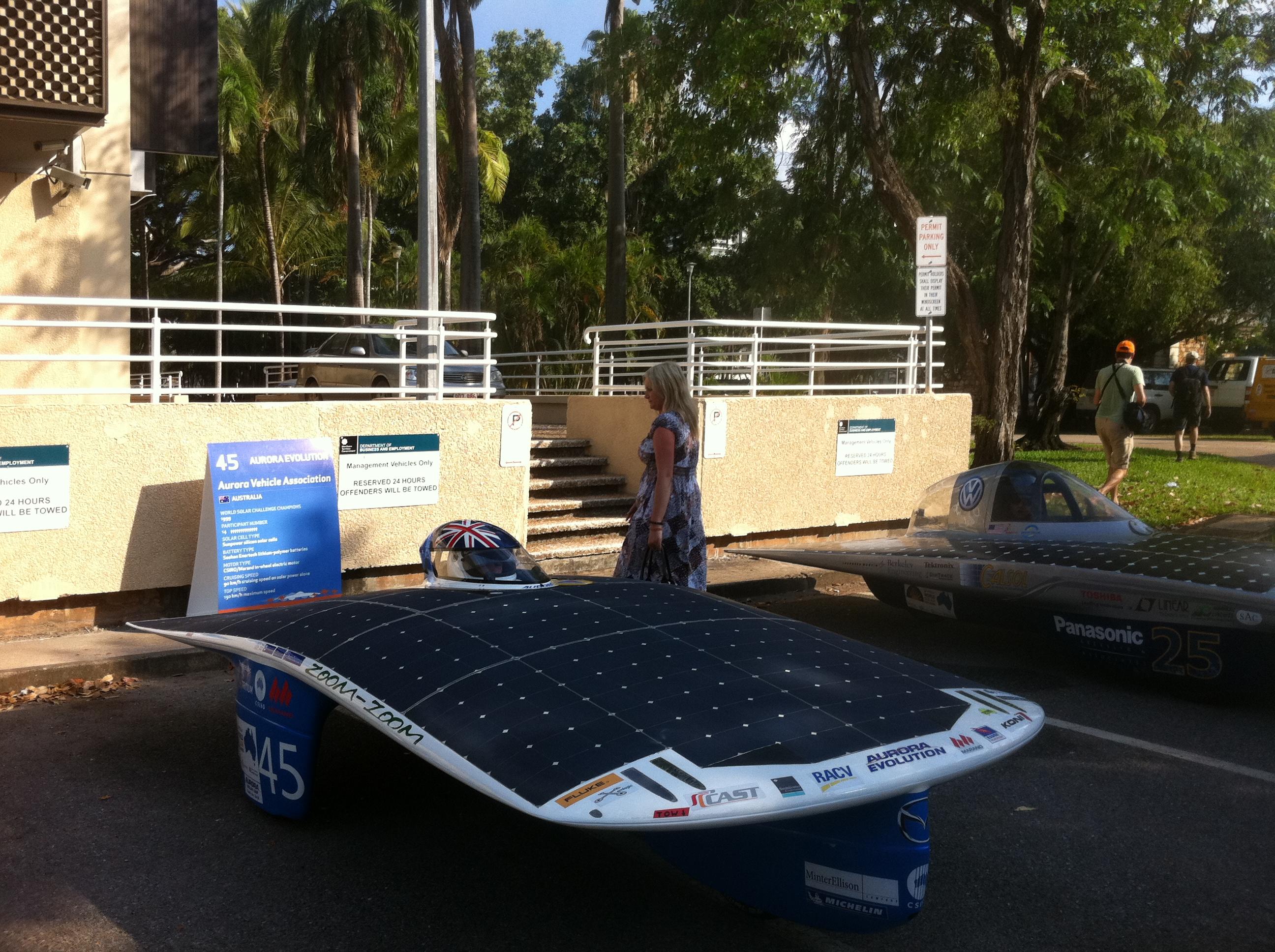 World Solar Challenge 2011 Darwin Australia Aurora Vehicle Association's Aurora Evolution