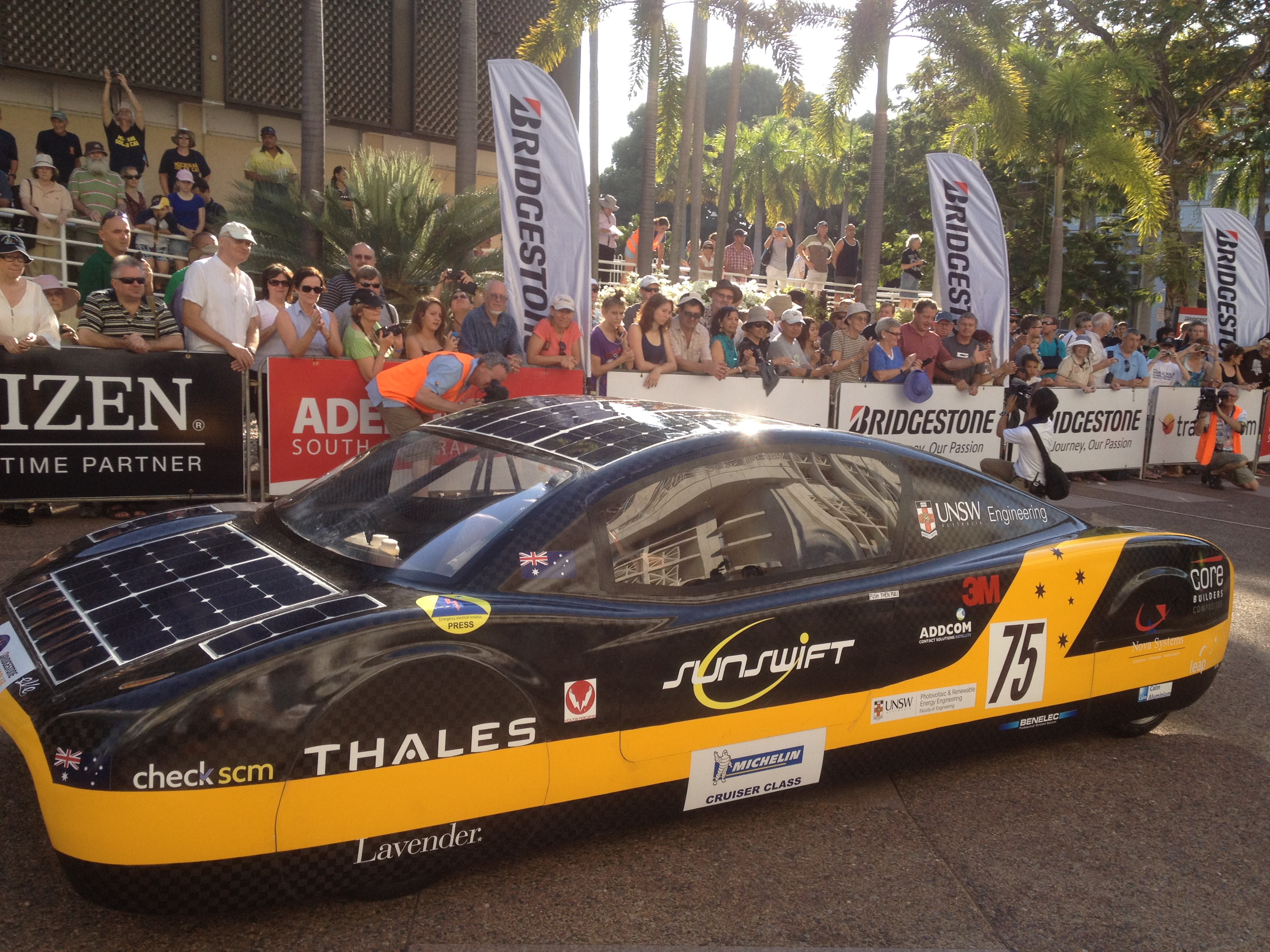 WSC2013-EVE of UNSW Solar Racing Team-Sunswift of Univ of NSW