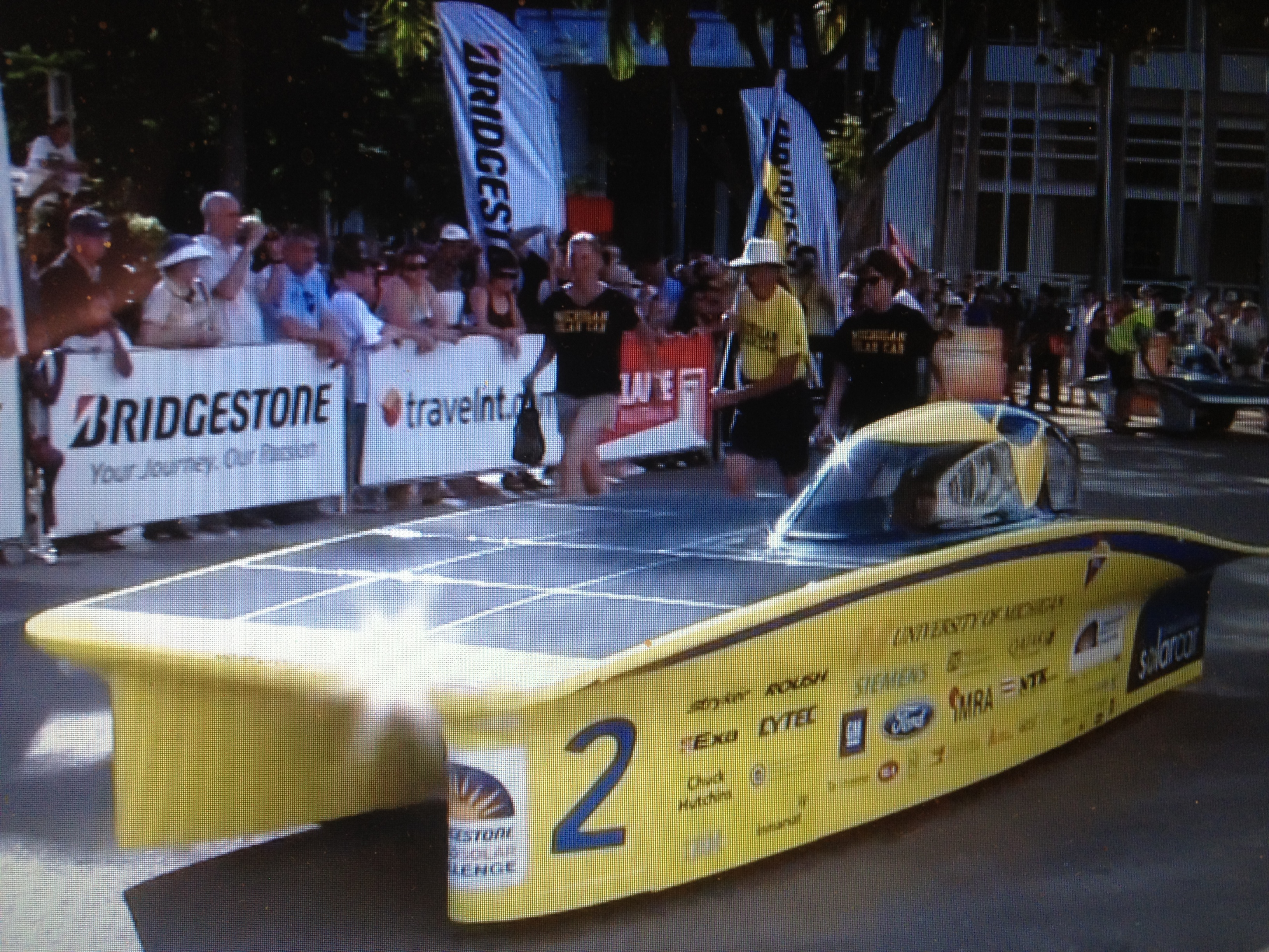 WSC2013-University of Michigan (USA)'s solar car