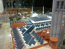 Masdar rooftop solar panels in city model