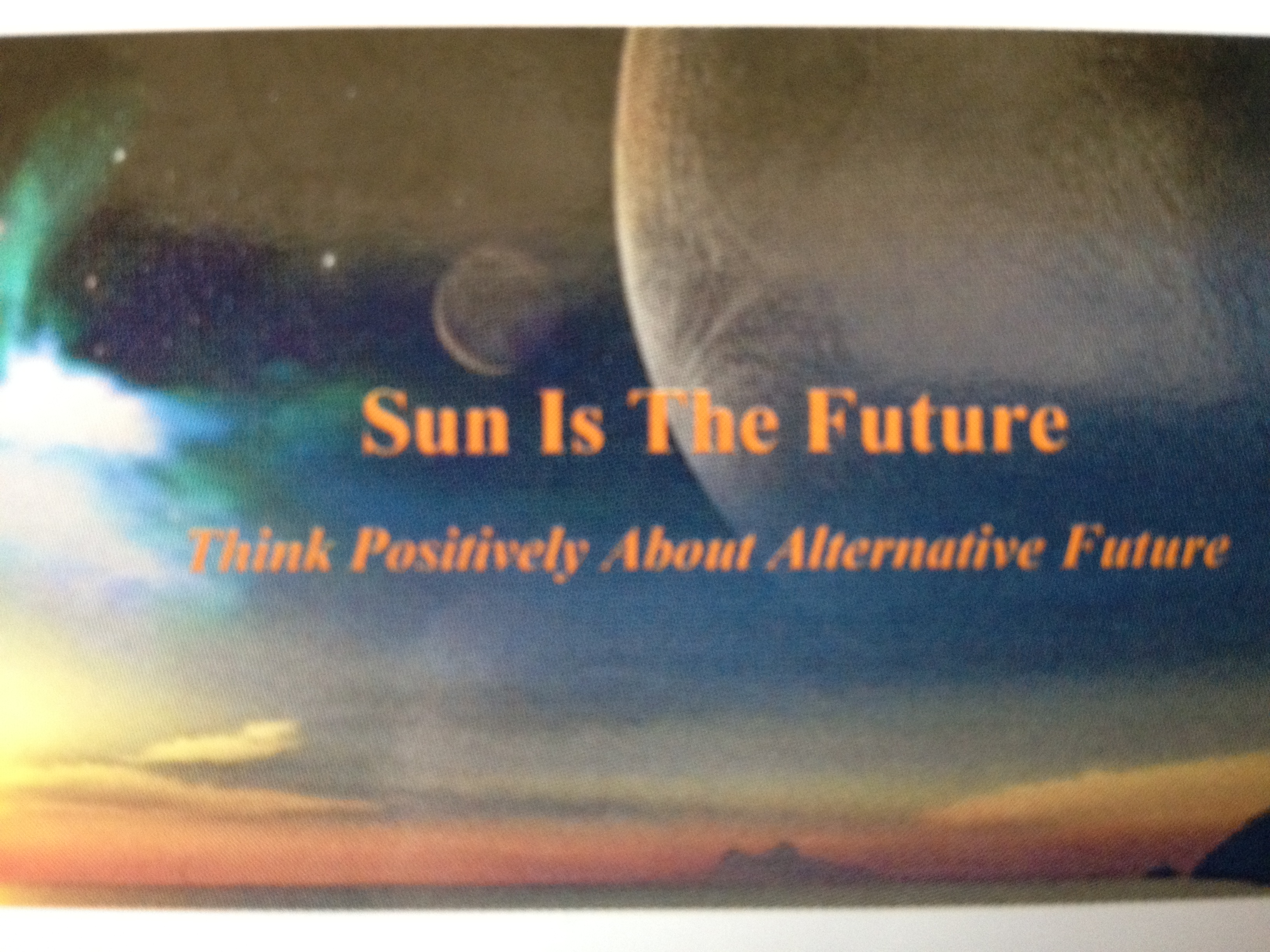 Sun Is The Future card