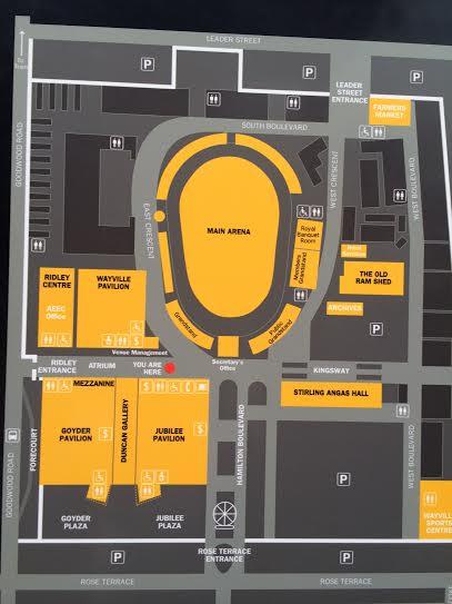 Adelaide Showground layout