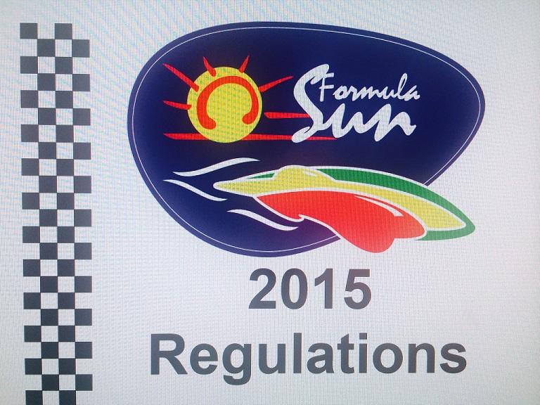 Formula Sun 2015 Regulations
