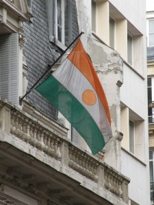 Niger's flag waving at Niger Ambassy in Paris (by Pymouss, GNU free documentation license)