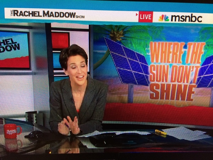 "Rachel Maddow's Comment on the ""Where The Sun Don't Shine"""