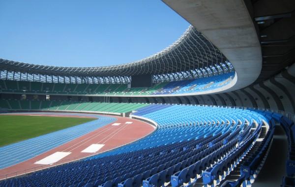 Dragon-shaped Solar Stadium in Kaoshung, Taiwan (credit: Peellden)