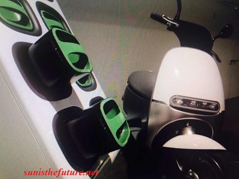 Gogoro's Smartscooter and its charging station