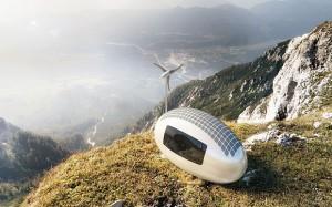 Ecocapsule on a hillside (credit: Ecocapsule of Nice Architects)