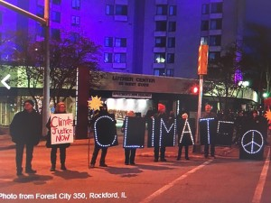 Climate March Nov 2015-Forest City, Rockford, IL (credit: 350.org )
