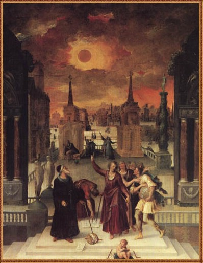Astronomer Antoine Caron Studying Solar Eclipse (public domain in USA)