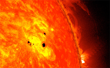 Sunspot NASA's observing growing sunspot SDO