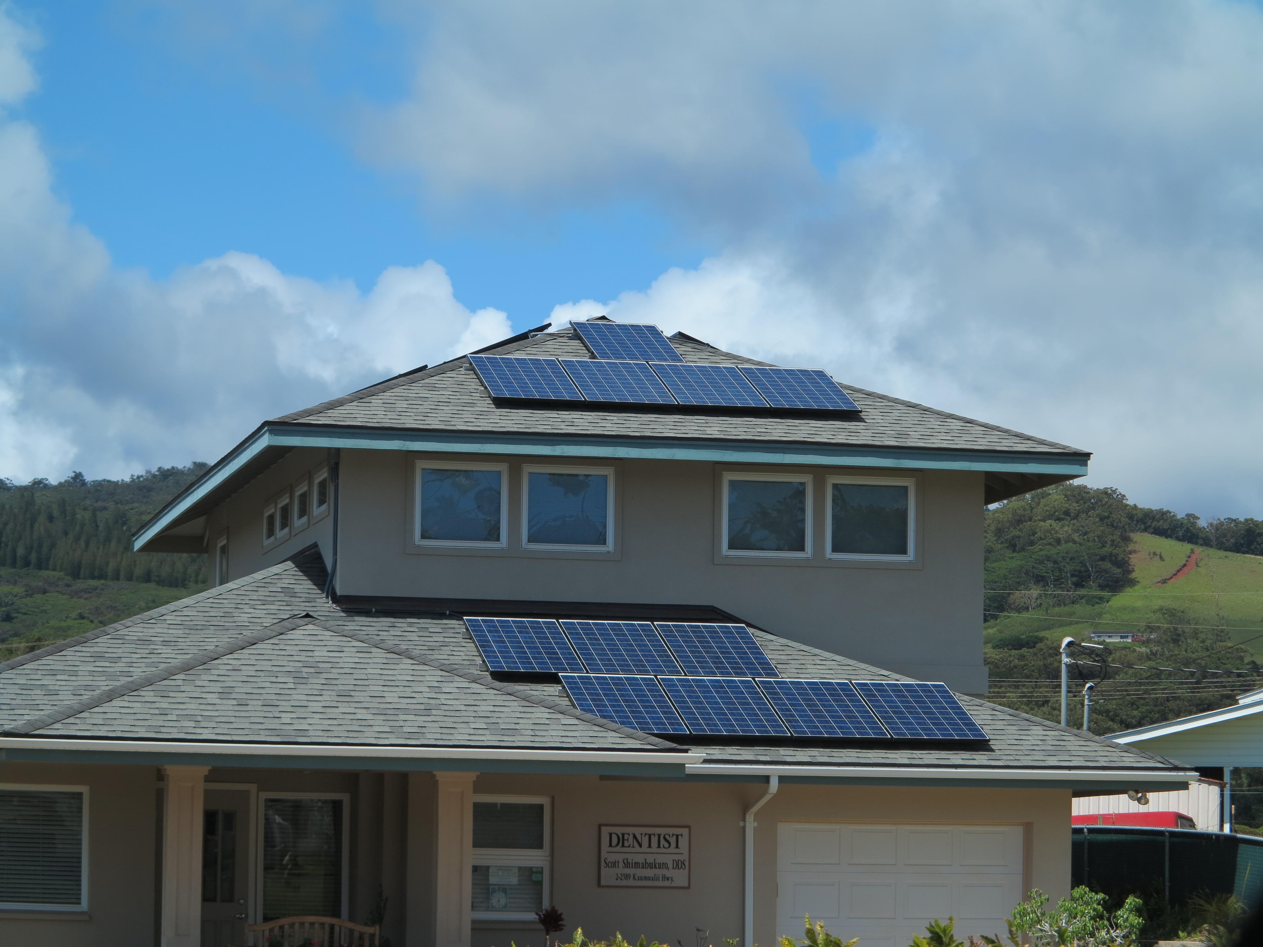 Kauai commercial dentist office solar 2013